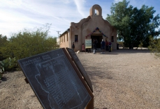 A view of the San Pedro Chapel during the annual Fort Lowell Day Celebration in Tucson, Ariz. Saturday, Feb. 8, 2014. STEVE MARCUS